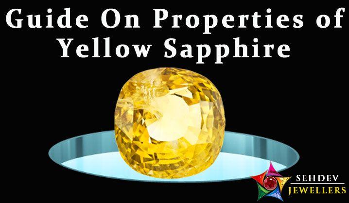 Properties of yellow sapphire gemstone