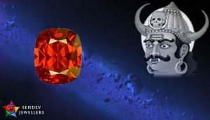 rahu with hessonite