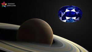 saturn with blue sapphire