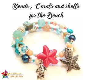 Beads, Corals And Shells Jewelry For The Beach