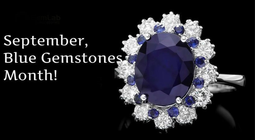 September, blue gemstones month!