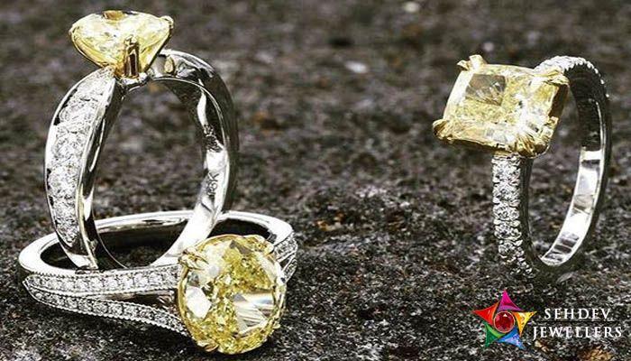 Wearing yellow sapphire ring